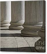 Marble Columns Of Thomas Jefferson Memorial Canvas Print
