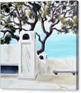 Marble Courtyard Canvas Print