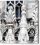 Marble Facade II Duomo Di Milano Italia Canvas Print