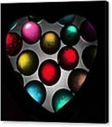 Marble Heart Canvas Print