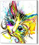 Marble The Cat Canvas Print