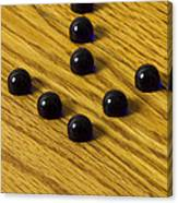 Marbles Arrow Blue 1 Canvas Print