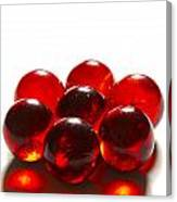 Marbles Red 3 B Canvas Print
