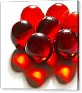 Marbles Red 3 C Canvas Print