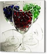 Marbles Wine Glasses 2 Canvas Print