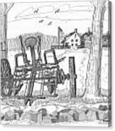 Marbletown Farm Equipment Canvas Print