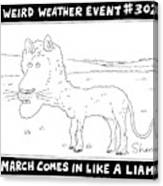 March Comes In Like A Liamb Canvas Print