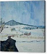 March Snow On Mole Hill - Sold Canvas Print
