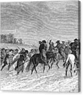 March To Trenton, 1776 Canvas Print