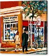Marche Depanneur Storefront Paintings Authentic Montreal Art Prints Originals Commissions C Spandau Canvas Print