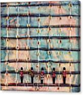 Marching Band Encaustic Canvas Print