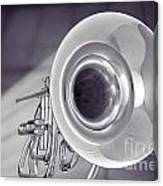 Marching French Horn Antique Classic In Sepia 3425.01 Canvas Print