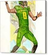 Marcus Mariota Oregon Ducks Rose Bowl Canvas Print