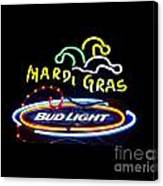 Mardi Gras And Bud Light Canvas Print