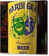 Mardi Gras Beer 1983 Canvas Print