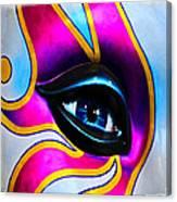 Mardi Gras Eye Canvas Print
