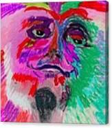 Mardi Gras Face Canvas Print