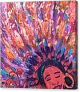 Mardi Gras Girl Revisited Canvas Print