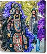 Mardi Gras Indian Canvas Print