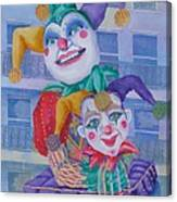 Mardi Gras Jesters Canvas Print