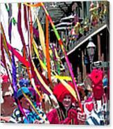 Mardi Gras Marching Parade Canvas Print