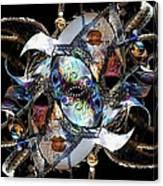 Mardi Gras Medusa Canvas Print