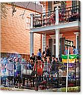 Mardi Gras Party On St Charles Ave New Orleans Canvas Print
