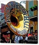 Mardi Gras Preservation Hall Photo Artistic Canvas Print