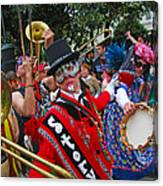 Mardi Gras Storyville Marching Group Canvas Print