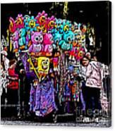 Mardi Gras Vendor's Cart Canvas Print