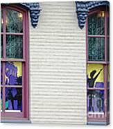 Mardi Gras Windows Canvas Print