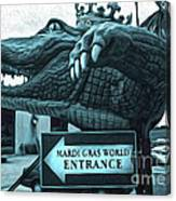 Mardi Gras World - Alligator Canvas Print