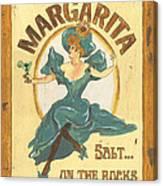 Margarita Salt On The Rocks Canvas Print