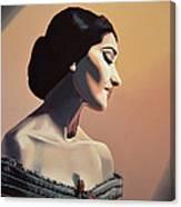 Maria Callas Painting Canvas Print