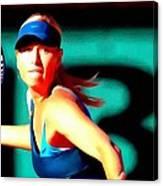 Maria Sharapova Tennis Canvas Print