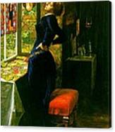 Mariana In The Moated Grange 1851 Canvas Print