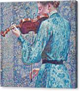 Marie Anne Weber Playing The Violin  Canvas Print
