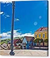 Marija Bistrica Square Colorful Panorama Canvas Print