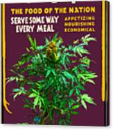 Marijuana Poster Canvas Print
