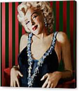 Marilyn 126 D Stripes Canvas Print