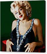 Marilyn 126 Green Canvas Print