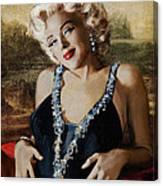 Marilyn 126 Mona Lisa Canvas Print