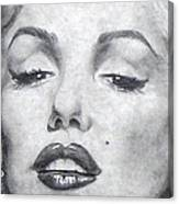 Marilyn Closeup Canvas Print