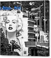 Marilyn In Cannes Canvas Print