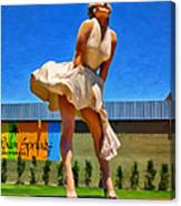 Marilyn In Palm Springs Canvas Print