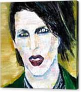 Marilyn Manson Oil Portrait Canvas Print