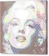 Marilyn Monroe 01 - Parallel Hatching Canvas Print