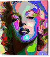 Marilyn Monroe - Abstract 1 Canvas Print