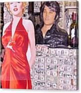 Marilyn Monroe And Elvis Canvas Print