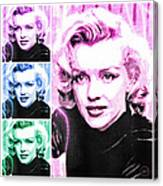Marilyn Monroe Art Collage Canvas Print